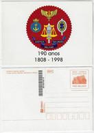 Brazil 1998 Postal Stationery Superior Military Court Justice Unused - Enteros Postales