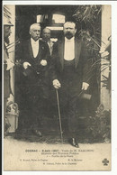 COGNAC , 9 Juin 1907 , Visite De M. BARTHOU Ministre Des Travaux Publics , Sortie De La Gare Avec M. Briand ( Maire ) - Cognac