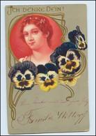 N643/ Schöne Jugendstil Litho Prägedr. AK Ca.1900 - Mailick, Alfred