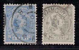 NETHERLANDS Scott # 41, 44 Used - Princess Wilhelmina - Used Stamps