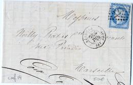 E6-Ajaccio  BAT. VAPEUR  Corse - 1849-1876: Periodo Classico