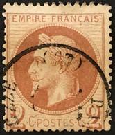 YT 26 (°) 1863-70 Napoléon III Empire Franc Lauré, 2c Rouge-brun (côte 50 Euros) – 6bleu - 1863-1870 Napoléon III Lauré