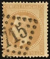 YT 28B LGC (°) 1863-70 Napoléon III Lauré, 10c Type II Gros Points (8 Euros) France – Cklot - 1863-1870 Napoléon III Lauré