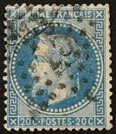 YT 29B Etoile 15 De Paris (°) 1863-70 Napoléon III Lauré, 20c Bleu (6 Euros) France – 3bleu - 1863-1870 Napoléon III Lauré