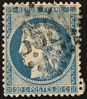 YT 37 (°) LGC 3581 St-Etienne Loire (84) 1870-71 Siège De Paris CERES 20c Bleu (côte 15 Euros) – Class - 1870 Besetzung Von Paris