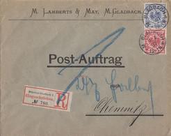 DR R-Brief Postauftrag Mif Minr.47, 48 M. Gladbach 8.4.97 Gel. Nach Chemnitz - Cartas