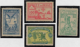Brazil 1900 RHM-C-1/4 4th Centenary Of The Discovery Angel Indian Independence Republic Ship Unused - Unused Stamps