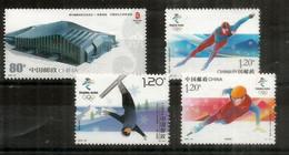 Beijing 2022 Winter Olympics   4 Timbres Neufs ** Chine - Winter 2022: Beijing