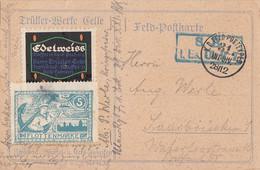 DR Feldpostkarte Mit 2 Vignetten Vom 28.12.1914 Gel. Nach Saarbrücken - Cartas
