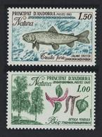 Andorra Fr. Trout Fish Trees Nature Protection 2v 1983 MNH SG#F330-F331 MI#332-333 SC#305-306 CVEur1.- - Nuevos