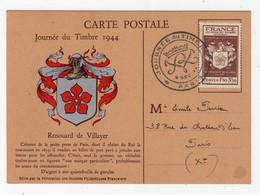 FRANCE: 1944 Journee Du Timbre Postcard (S113) - Lettres & Documents