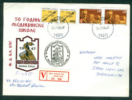 Bosnia And Herzegovina 1998 Medicine Skool Banja Luka Pupin Snake 50th Anniversary Letter BiH - Bosnie-Herzegovine