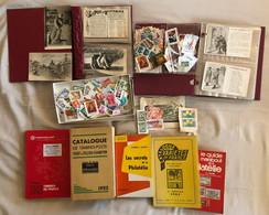 ***Lot Magique *** Collection : Timbres,cartes Postales, Classeurs Et Catalogues ... Pour S'amuser Pendant Les Soirées ! - Sammlungen (ohne Album)