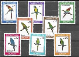 Bolivia Mint Hinge Trace * 1981 Complete Birds Set Parrots 17 Euros - Bolivië