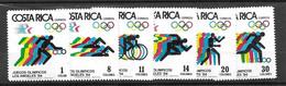 Costa Rica 1984 Olympics Complete Set Mnh ** - Costa Rica