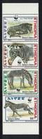 Ethiopia WWF Grevy's Zebra Vertical Strip Of 4v 2001 MNH SG#1816-1819 MI#1704-1707 SC#1533 A-d CVEur5.50 - Äthiopien