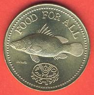 Uganda 200 Shillings 1995, 50th Anniversary FAO, Fish, KM#148, Unc - Uganda
