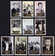 Fujeira President Kennedy Commemoration 10v 1965 MNH SG#28-37 SC#28-37 - Fujeira