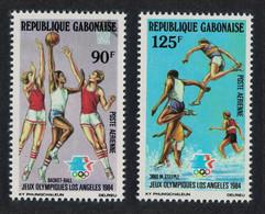 Gabon Basketball Olympic Games Los Angeles 2v 1984 MNH SG#892-893 - Gabon