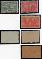 Brazil 1909/1920 Tricentennial Of Cabo Frio Tricentennial Of Belém And Visit Of King Albert I Of Belgium Unused - Unused Stamps