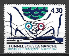 FRANCE    -    1994   -  Y&T N° 2883 Oblitéré.   Tunnel Sous La Manche. Mains - Oblitérés
