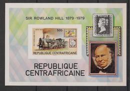 Centrafricaine - 1979 - Bloc Feuillet N° Yv. 39 - Rowland Hill - Non Dentelé / Imperf. - Neuf Luxe ** / MNH / Postfrisch - Trains