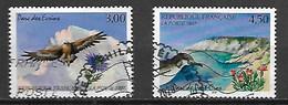 FRANCE    -    1997  -  Y&T N° 3054 & 3057 Oblitérés.   Parc Des Ecrins.et De Port-Cros.  Oiseaux - Oblitérés