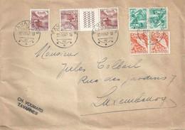 Briefvs  Tavannes - Luxembourg  (interessante Mischfrankatur)        1947 - Briefe U. Dokumente