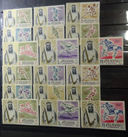 &155C& FUJEIRA MICHEL 19/27 MNH** PERF.+ INPERFORATED. SPORT, OLYMPIC GAMES TOKYO 1964. - Fujeira