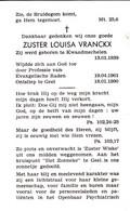 Zuster Luisa Vranckx ° Kwaadmechelen 1939 + Geel 1990 - Religion & Esotericism
