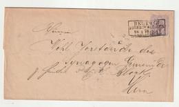 """Deutsches Reich - 1876 - Brief R3-Srempel """"BEUTHEN (Oberschlesien)"""" (1621) - Cartas"""
