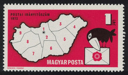 Hungary Bird Introduction Of Postal Codes 1973 MNH SG#2766 - Nuovi