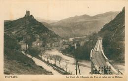 CPA - PONTAIX - Le Pont Du Chemin De Fer Et Celui De La Drôme- écrite 1940 - Otros Municipios