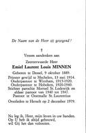 Z.E.H. Laurent Louis Minnen ° Dessel 1914 Pastoor Te Wintam Hoboken Mortsel Oostmalle + Herselt 1979 - Religion & Esotericism
