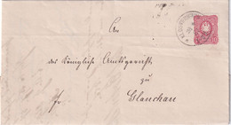 ALLEMAGNE 1887  ENTIER POSTAL/GANZSACHE/POSTAL STATIONARY LETTRE - Enteros Postales