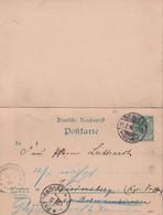 ALLEMAGNE 1896 ENTIER POSTAL/GANZSACHE/POSTAL STATIONARY CARTE AVEC REPONSE DE WERDEN - Cartas