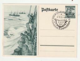 """Deutsches Reich - 1937 - Sonderpostkarte Mi. P 266 SSt. """"Berlin-Charlottenburg, Jagdausstellung"""" (1628) - Enteros Postales"""