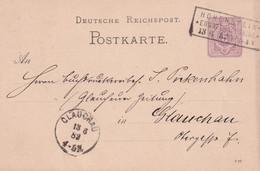 ALLEMAGNE 1882 ENTIER POSTAL/GANZSACHE/POSTAL STATIONARY CARTE DE HOHENSTEIN - Cartas