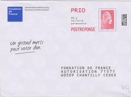 Postreponse Marianne L'engagée Prio Fondation De France Ecologic ........agissez Pour Le Recyclage ... Lot 182202 - Prêts-à-poster: Réponse