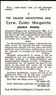 Eerwaarde Zuster Margareta Maria Maris ° Itegem 1860 + Gasthuiszusters  Geel 1938 - Religion & Esotericism