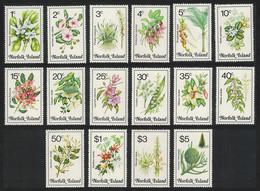 Norfolk Orchids Flowers 16v 1984 MNH SG#318-333 SC#323-338 - Isla Norfolk