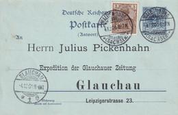 ALLEMAGNE 1900 ENTIER POSTAL/GANZSACHE/POSTAL STATIONARY CARTE DE WALDENBURG - Cartas