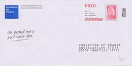 Postreponse Marianne L'engagée Prio Fondation De France Ecologic .......pensez Au Tri ! Lot 298771 - Prêts-à-poster: Réponse