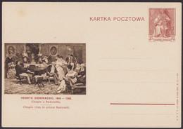 Poland 1938 Postal Stationery Chopin At Radziwiłł's Prince / Henryk Siemiradzki / Piano, Music, Painting, Art P66 - Polonia