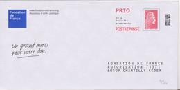 Postreponse Marianne L'engagée Prio Fondation De France Ecologic .......agissez Pour Le Recyclage ....... Lot 267314 - Prêts-à-poster: Réponse