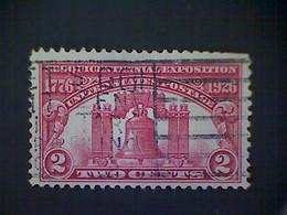 United States, Scott #627, Used(o), 1926, Liberty Bell, 2¢, Carmine Rose - Gebraucht