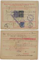 Brazil 1935 Money Order From Santo Amaro To Bahia Vale Postal Stamp 1$000 + 10$000 Réis + Vovó 500 Réis - Briefe U. Dokumente