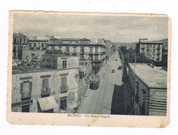 Napoli   Bagnol Animata  Tram  Via Nuova Bagnoli Oggi Via Diocleziano  Fuorigrotta  1949 - Napoli (Naples)
