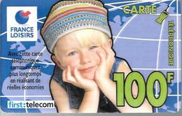 CARTE²-PREPAYEE-FIRST TELECOM-100F-FRANCE LOISIRS-3é TRIMESTRE 2000-Gratté-TBE- - Tarjetas Prepagadas: Otras