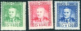 BRAZIL # 674/76  -  PRESIDENT EURICO GASPAR DUTRA 3v   - 1947 - Ungebraucht